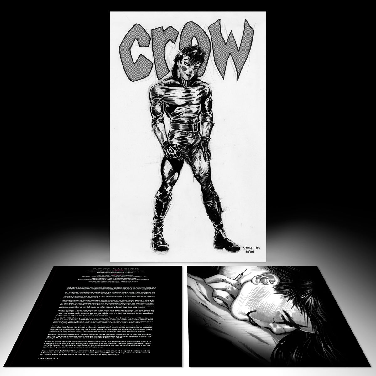 "The Crow Comic Accompaniment by Trust Obey- ""Fear And Bullets"" (ETR078)"