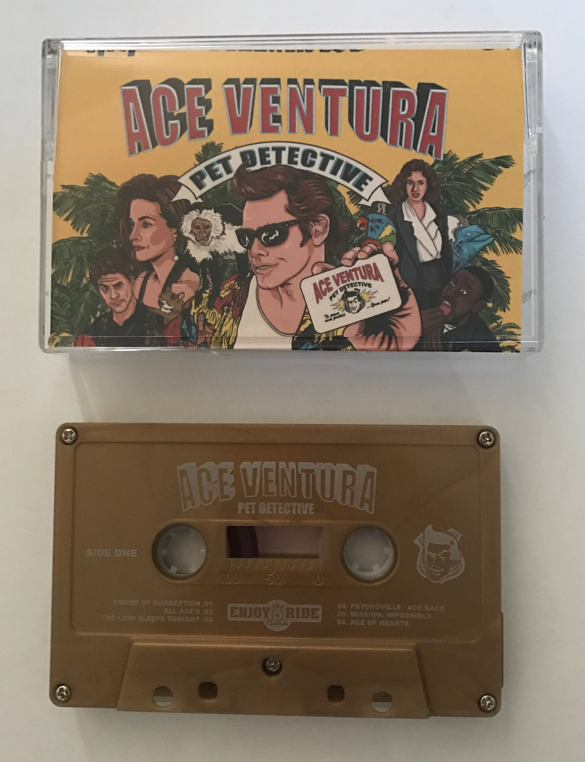 Ace Ventura Soundtrack Cassette (Metallic Gold)