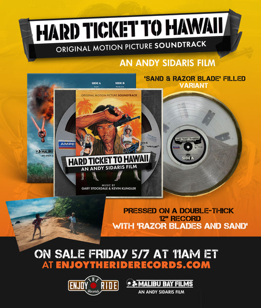 Hard Ticket To Hawaii Soundtrack: An Andy Sidaris Film Sand & Razor Blade FILLED Variant