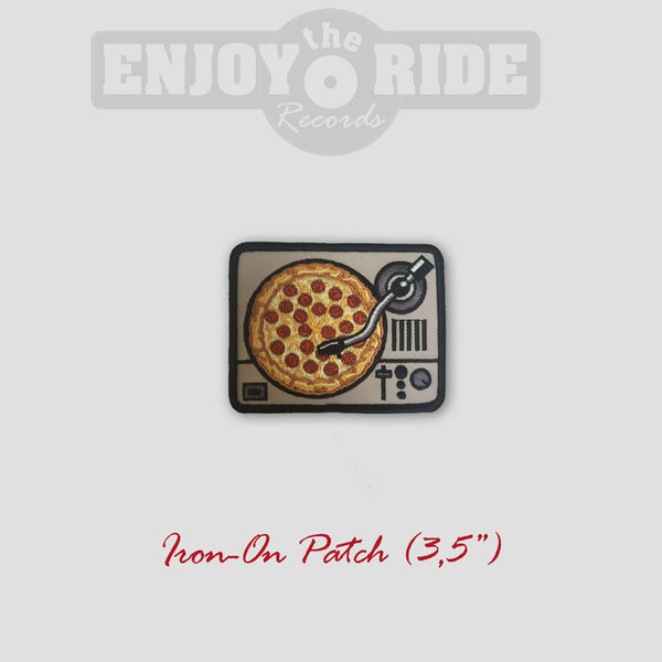 Turntable Pizza PATCH (Iron On)