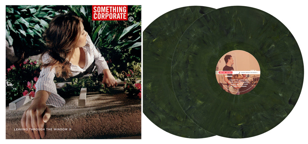 SOMETHING CORPORATE - LEAVING THROUGH THE WINDOW - 2xLP 11TH ANNIVERSARY PRESSING (ETR022)
