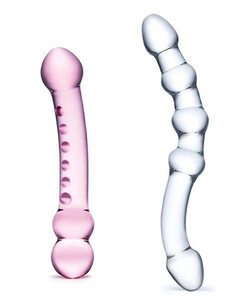Glas 2 Pc Double Pleasure Glass Dildo Set