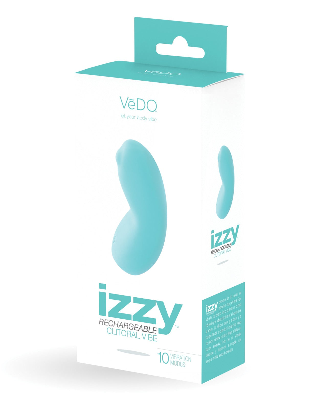 Vedo Izzy Rechargeable Clitoral Vibe - Turquoise