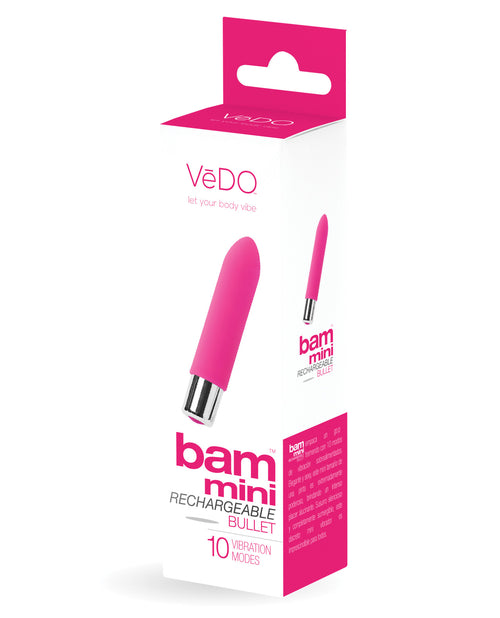 Vedo Bam Mini Rechargeable Bullet Vibe - Foxy Pink