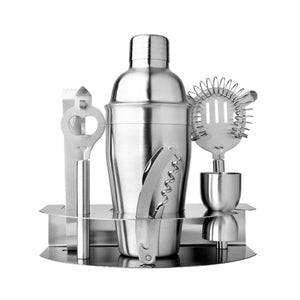 7 pcs Stainless Steel Cocktail set with Stand