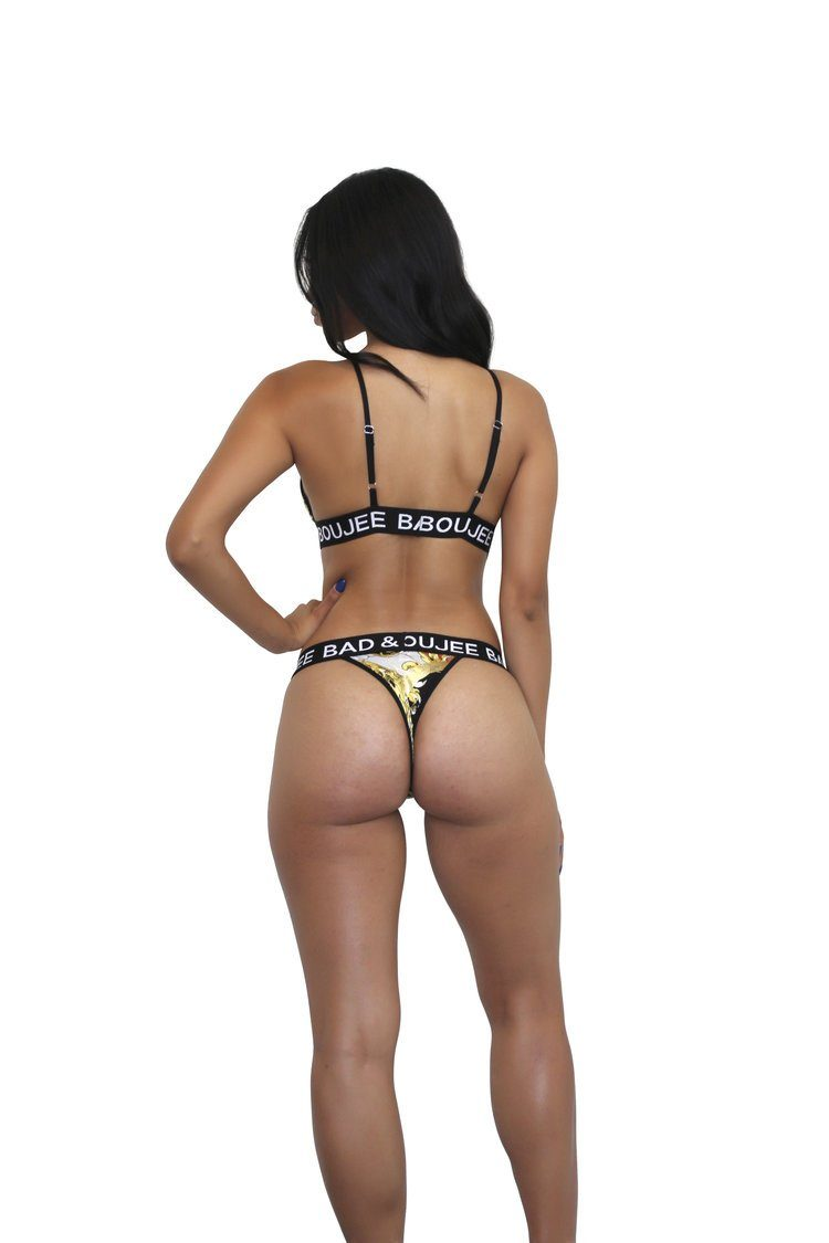 2 piece red Versace thong