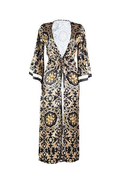 Versace inspired bodysuit with robe