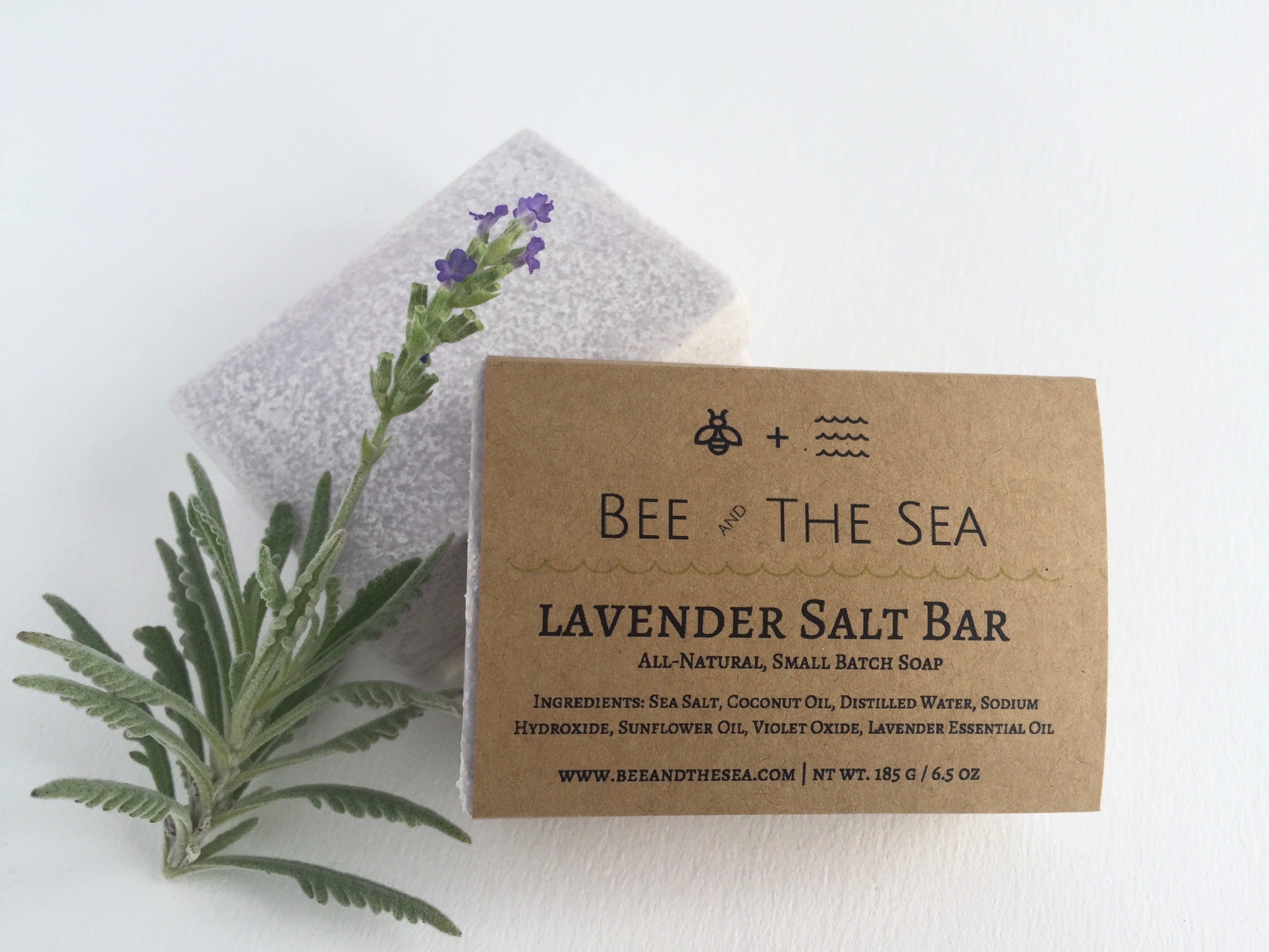 Lavender Sea Salt Coconut Oil Soap