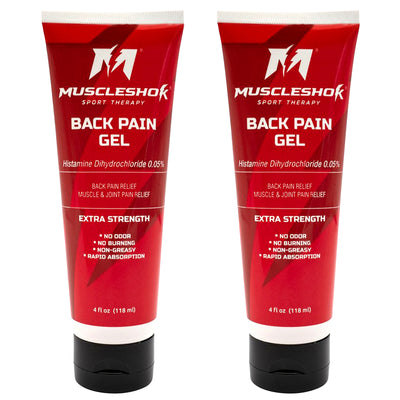 Back Pain Gel for Muscle and Joint Pain - 2 Pack (4oz each)