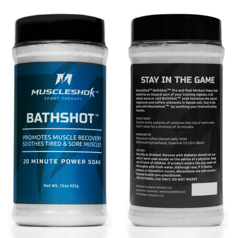 BathShotⓇ 2 Pack (1.9 lbs) with Back Pain Gel (4oz) Bundle