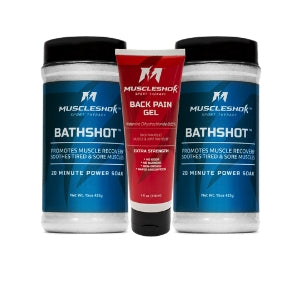 BathShot 2 Pack (1.9 lbs)  with Back Pain Gel (4oz) Bundle from MuscleShok
