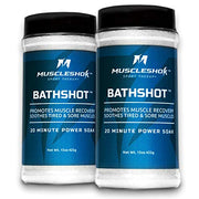 BathShotⓇ Sport Therapy Bath Salts for Sore Muscles - 2 pack - 1.9 lbs