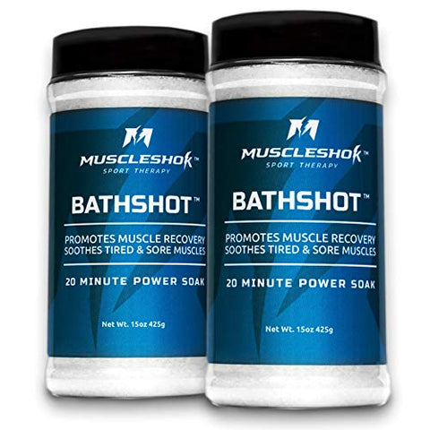 BathShot Sport Therapy Bath Salts for Sore Muscles - 2 pack - 1.9 lbs