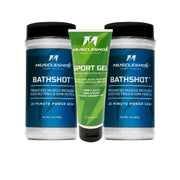 BathShot 2 Pack (1.9 lbs) with Sport Gel (4oz) Bundle from MuscleShok