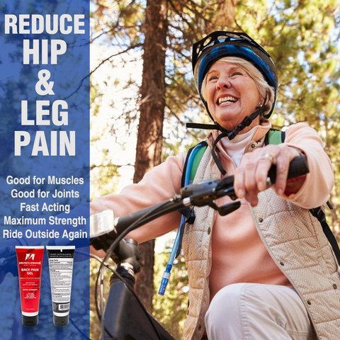 Back Pain Gel for Muscle and Joint Pain - 4oz