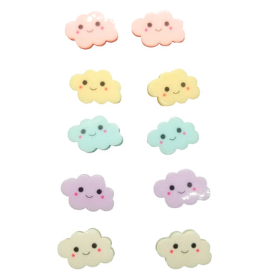 Pastel Cloud Charms 10pc