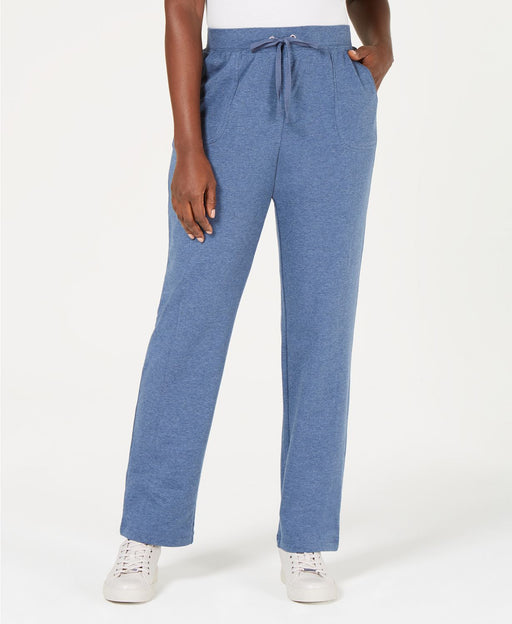 KAREN SCOTT French Terry Pant BLUE LARGE