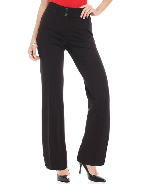 Alfani Petite Curvy-Fit Pants Black 4PS