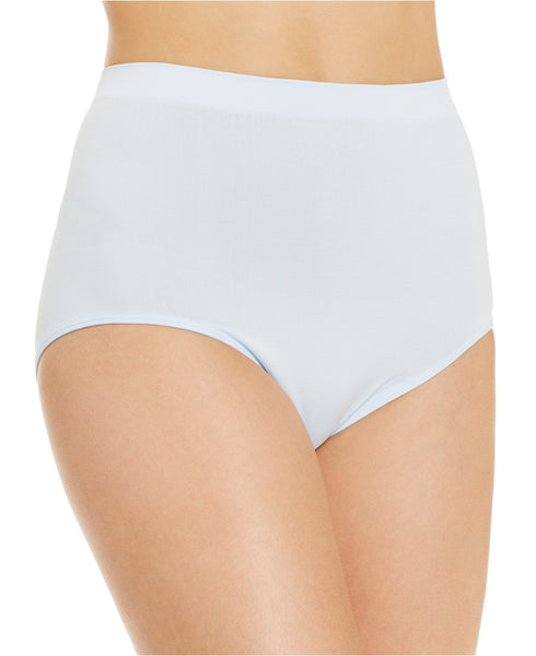 Vanity Fair Women's Plus Size Perfectly Yours Seamless Tailored Brief Panty 13083, Star White, 10/11