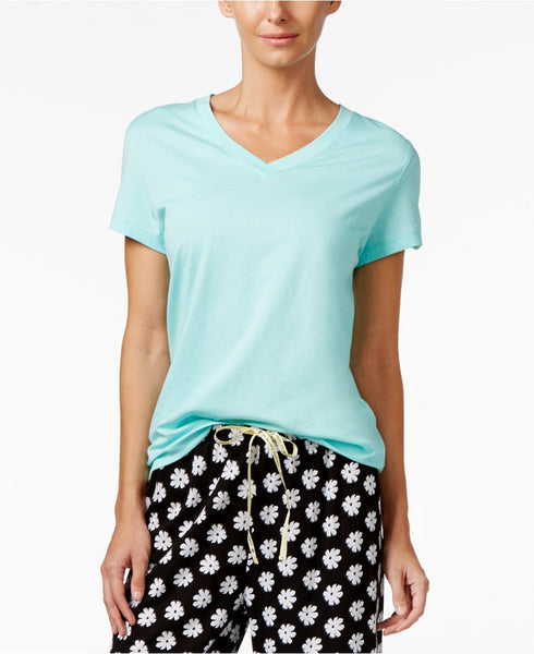 Hue Solid Top Aqua Heather L