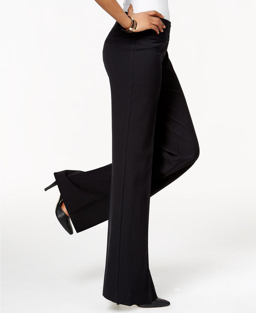 Style Co Stretch Wide-Leg Pants Deep Black 16