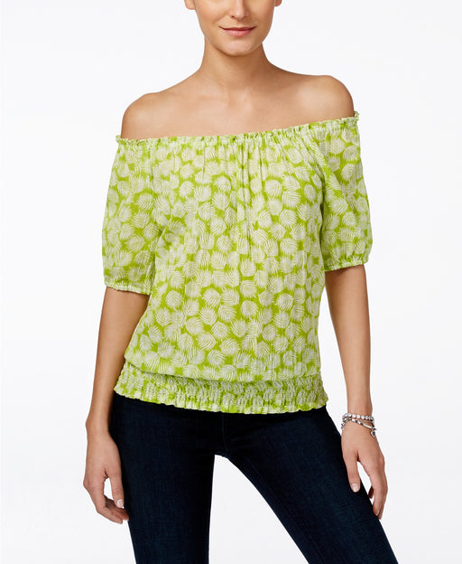 Michael Kors Petite Alicante Off-Shoulder B Fresh Lime PM