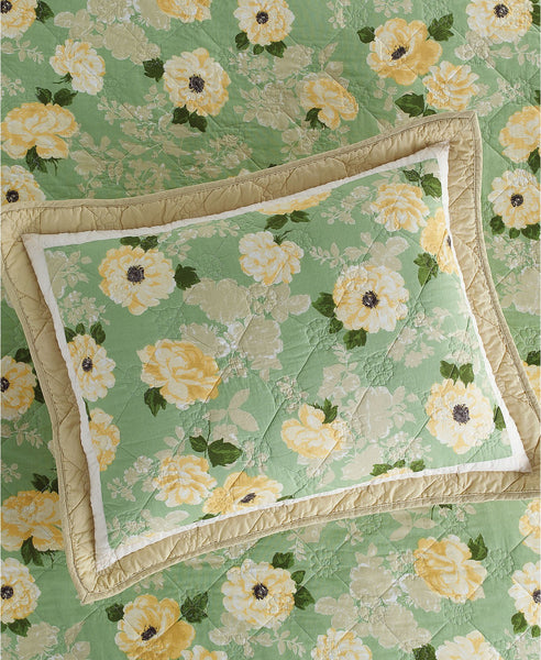Martha Stewart Collection Old World Rose Standard Sham Medium Green Standard