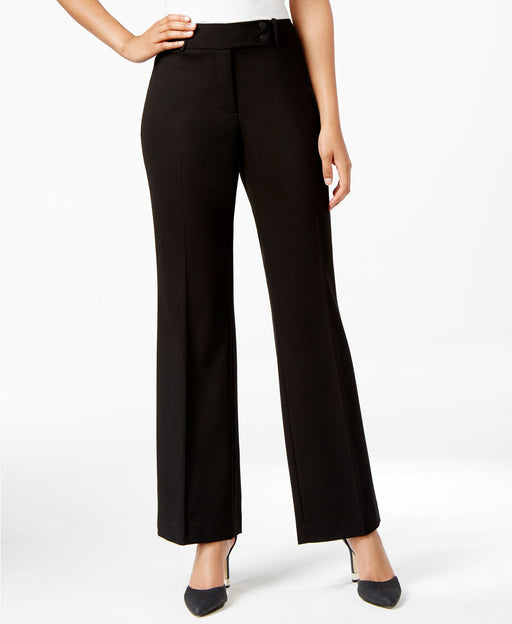 Calvin Klein Double-Button Slim Trousers Black 4