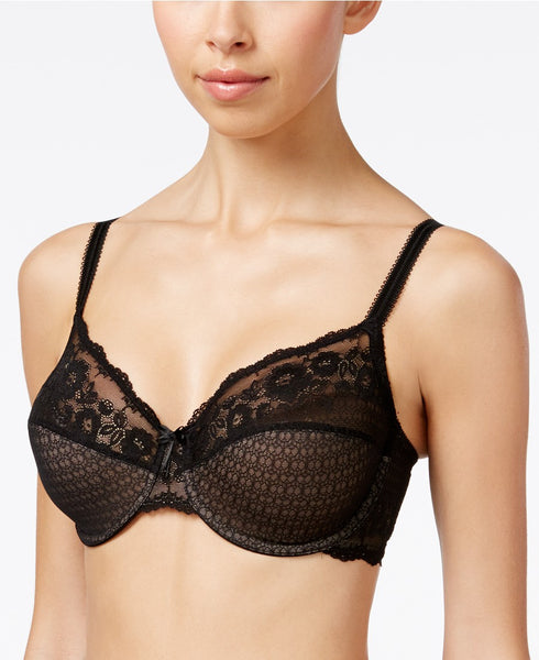 Wacoal The Insider Sheer Lace Bra 851 Black 32C
