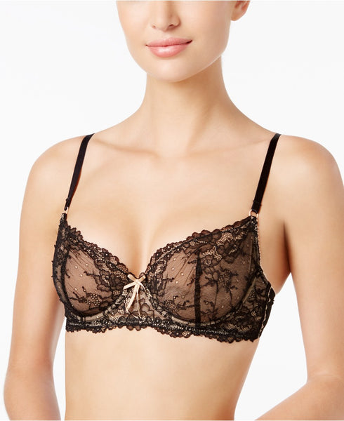 Heidi by Heidi Klum Natural French Lace Underwire BlackToasted Almond 36DD