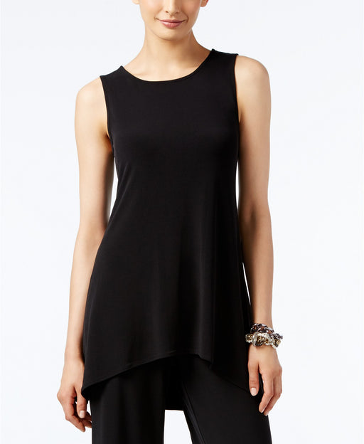 Alfani Petite High-Low Sleeveless Tun Deep Black PXS