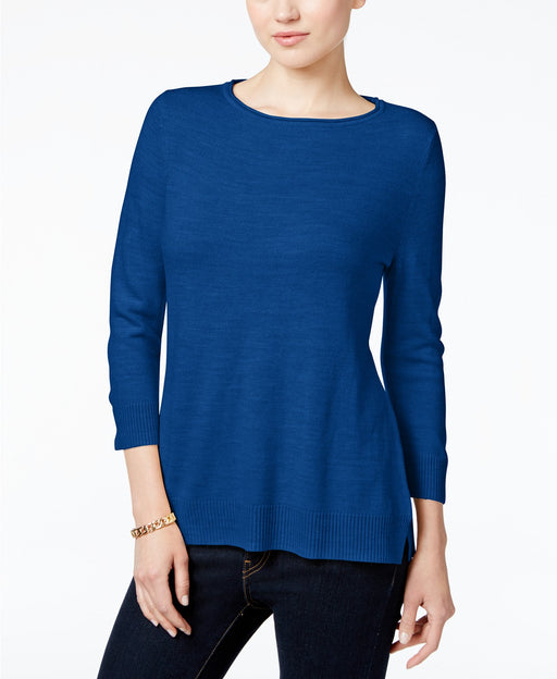 Karen Scott Petite Roll-Neck Sweater Luxsoft Blue PS