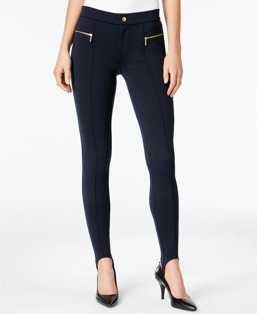 Michael Kors Petite Stirrup Ponte Pants New Navy 6P