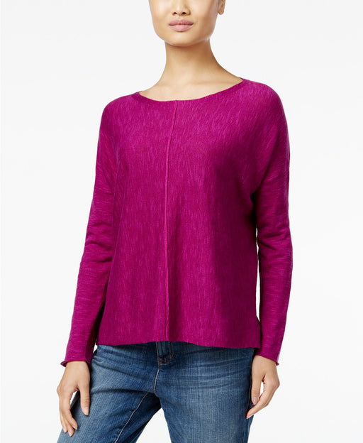 Eileen Fisher Boat-Neck Sweater Petunia PL