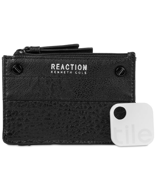 Kenneth Cole Reaction RFID Key Coin Purse with Track Baked Apple