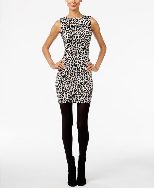 Michael Kors Petite Cheetah-Print Sheath Dr Black PXS