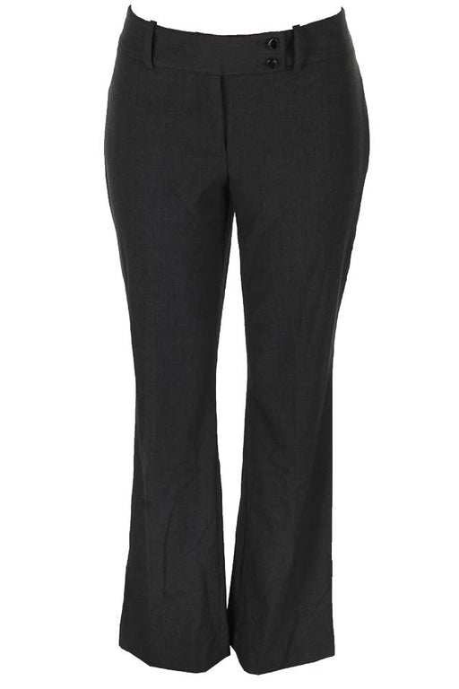 Calvin Klein Double-Button Slim Trousers Charcoal 0