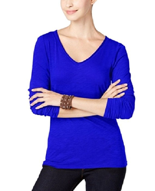 INC International Concepts Petite Slub Top Goddess Blue PXS