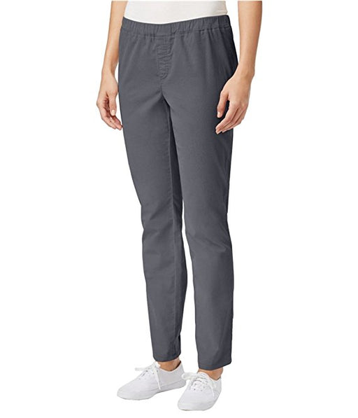 Karen Scott Petite Corduroy Straight-Leg P Charcoal Heather PM