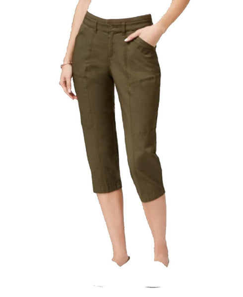 Lee Platinum Cropped Colored Pants Moss 2