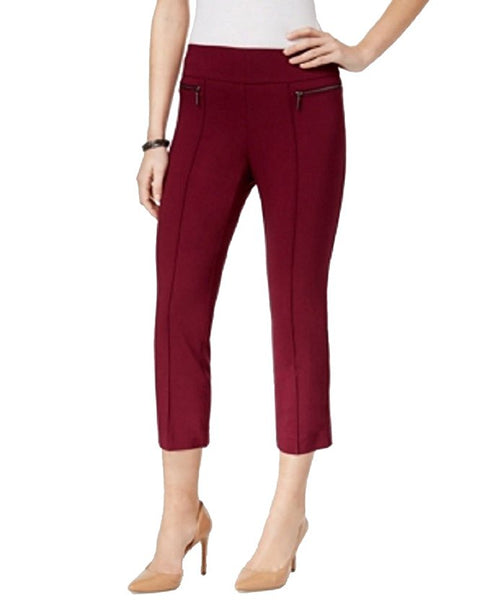 Style Co Pull-On Cropped Pants Orchard Vine L