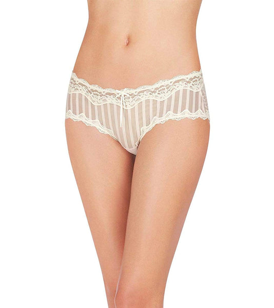 Heidi by Heidi Klum Mesh and Lace Striped Cheeky H Silver PeonyPristine M