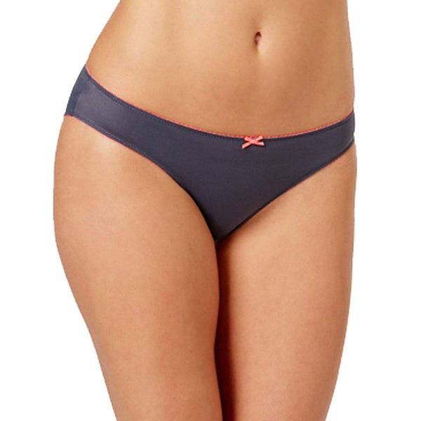 Heidi by Heidi Klum Smooth Microfiber Bikini H30-1 EbonyNeon Flamingo XL