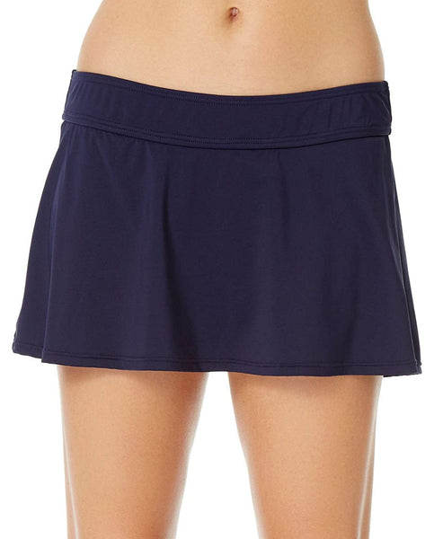 Anne Cole Solid Swim Skirt Navy M