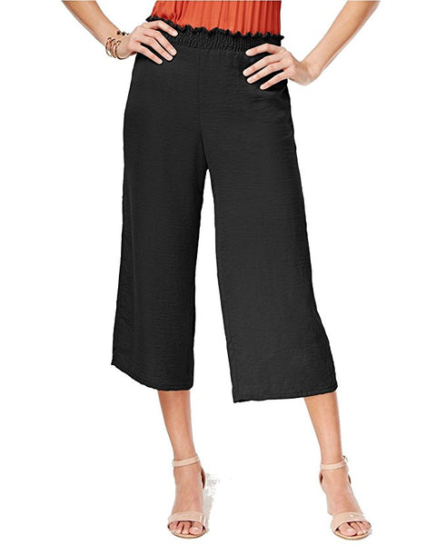 NY Collection Pull-On Culotte Pants Black M