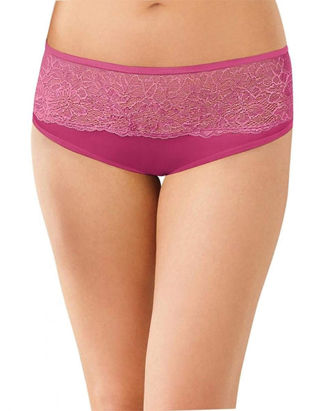 Bali One Smooth U Comfort Indulgence Satin with Lace Hipster Champagne Shimmer 9