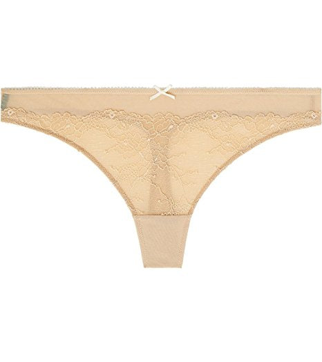 Heidi by Heidi Klum French-Cut Lace Thong H37-1166 Toasted AlmondPristine- Nude M