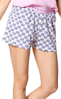 Hue Kitty Crush Boxer Pajama Short Bleached Denim S