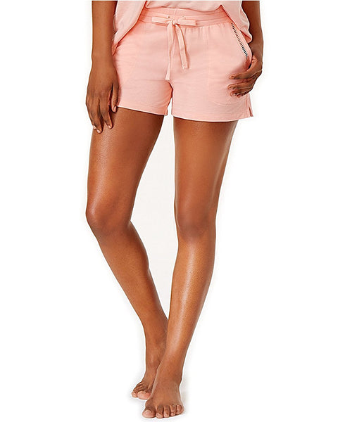 Alfani Knit Pajama Shorts Light Blush M