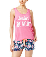Jenni Keyhole-Back Pajama Tank Top Flash Mode Beachy M